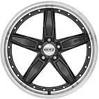 Dotz SP5 dark 8,5x19 5x120 ET33 Černý metalický lak / Leštěný límec