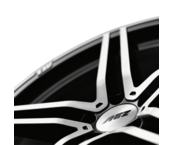 AEZ Portofino dark 8x17 5x112 ET45 Leštěná čelní plocha / Černý lak