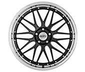 Dotz Revvo dark 8,5x19 5x114,3 ET45 Leštěný límec / Metalický šedý lak
