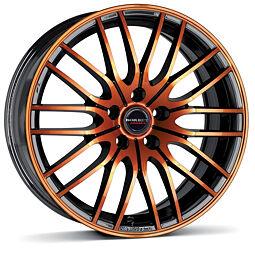 Borbet CW4 (BOG) 7x17 4x100 ET38 Oranžová čelní plocha / Černý lak