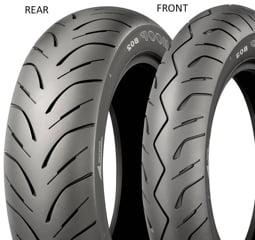 Bridgestone Hoop B02 PRO 130/70 -12 62 L TL RF RF, Přední/Zadní Skútr