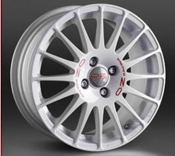 OZ SUPERTURISMO WRC 8x17 5x100 ET35 Bílý lak / červený nápis