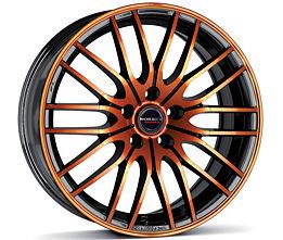 Borbet CW4 (BOG) 8x17 5x112 ET48 Oranžová čelní plocha / Černý lak
