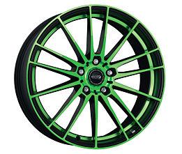 Dotz Fast Fifteen green 8x19 5x114,3 ET45 Leštěná čelní plocha / Zelený lak / Černý lak