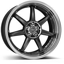 Dotz Fast Seven 8x18 5x120 ET30 Leštěný střed a límec / Metalicky šedý lak