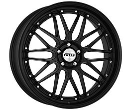 Dotz Revvo black edt. 9,5x20 5x112 ET35 Matně černý lak