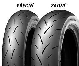 Dunlop TT93 GP 120/80 -12 55 J TL Medium, Zadní Skútr