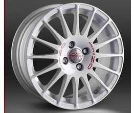 OZ SUPERTURISMO WRC 7x17 5x114,3 ET45 Bílý lak / červený nápis