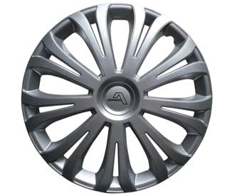 """ALCAR Riva 13"""" stříbrná - poklice (sada)"""