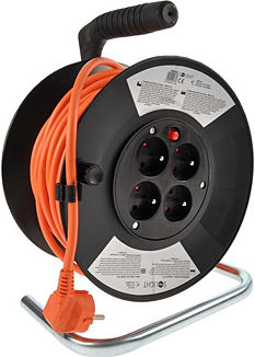 Solight 25m, 4 zásuvky prodlužovací kabel na bubnu